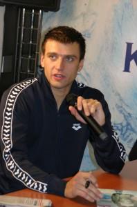 Прекрасный российский пловец Станислав Донец, , победитель заплывов в Москве и Берлине