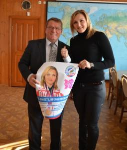 Олег Тарасов с серебряным призером Олимпиады Евгенией Колодко