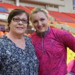 С известной советской спортсменкой, многократной чемпионкой СССР Светланой Крачевской