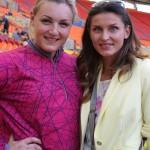 .Евгения Колодко со своей хорошей  подругой, олимпийской чемпионкой, прыгуньей в высоту  Анной Чичеровой