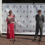 Александр Жуков, президент Олимпийского комитета России и Мария Киселева, руководитель пресс-службы ОКР