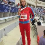 Радуюсь гостье Светлане Школиной. Она чемпионка по прыжкам в высоту.