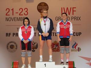 Победительница Лидия Валентин  с россиянками Оксаной Карпуненко и Ляйсан Махияновой