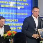 Василий Конов и Дмитрий Тугарин в этой номинации  как лучшие в спортивной печатной и  медиа продукции