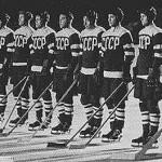 """Советские хоккеисты, победители  зимней Олимпиада-1956 в Кортина д""""Ампецо (Италия)"""