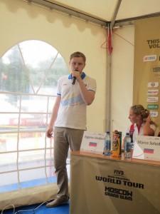 Пресс-директор турнира Леонид Гольдман верный друг любознательной журналистской братии