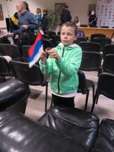 ...Зато его младший сын весел. Он подает большие надежды в спорте