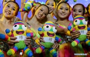 Китайские девушки влюблены в талисман Игр