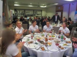 Женская сборная России на церемонии вручения наград