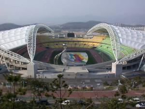 Стадион в Корее, где вскоре развернутся баталии летней Универсиады-2015.