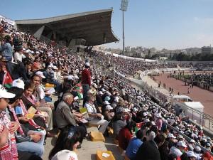 Центральный стадион в Амане и его посетители
